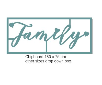 Family 138 x 58mm Min buy 3 Memorymaze
